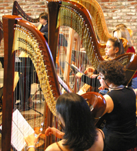 2002 harp concert in Los Altos